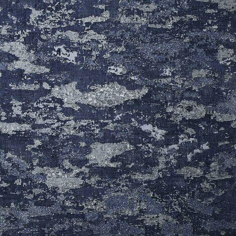 Patina Navy Textured Wallpaper Arthouse Heavyweight Vinyl Glitter Metallic