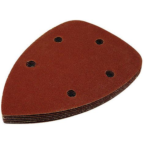 Patins abrasifs delta auto-agrippants 140 x 140 x 100 mm Grain 2x40, 2x80 et 2x120 - Lot de 6