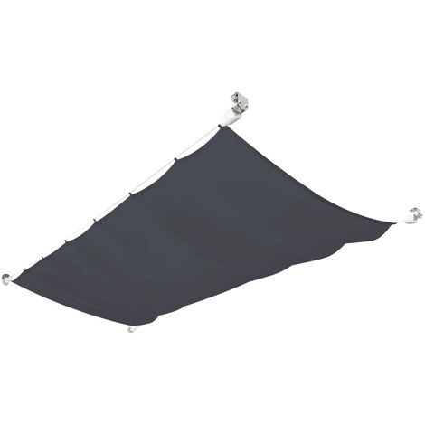 Patio Awning Oxford Fabric 140x270 cm Grey