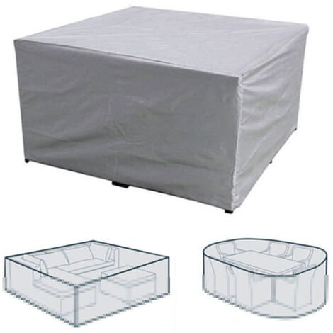 """main image of """"Patio Furniture Cover Garden Table Chair Sofa Cover Waterproof Dust-Proof UV-Resistent Oxford Cloth Protective Cover 213*132*74cm"""""""