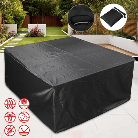 Patio Furniture Covers, Outdoor Furniture Covers Made of 210D Duty Oxford Fabric,Windproof Waterproof, Rain Snow Dust WindProof, Anti-UV, 127x127x74cm