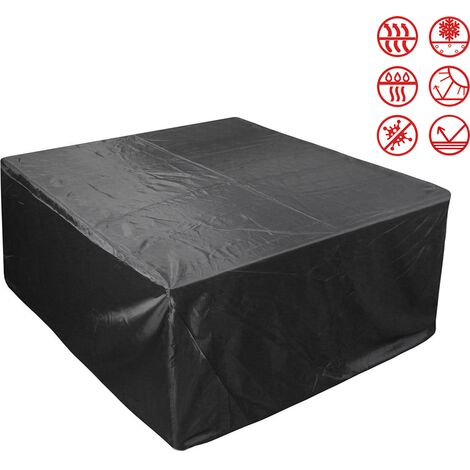 Patio Furniture Covers, Outdoor Furniture Covers Made of 210D Duty Oxford Fabric,Windproof Waterproof, Rain Snow Dust WindProof, Anti-UV, 242*162*100cm