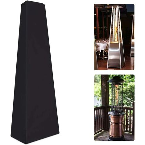 """main image of """"Patio Heater Cover, Waterproof Outdoor Garden Heater Cover Protector for Pyramid Patio Heaters,Outdoor Triangle Glass Tube Heater Cover(229x53x53cm)"""""""