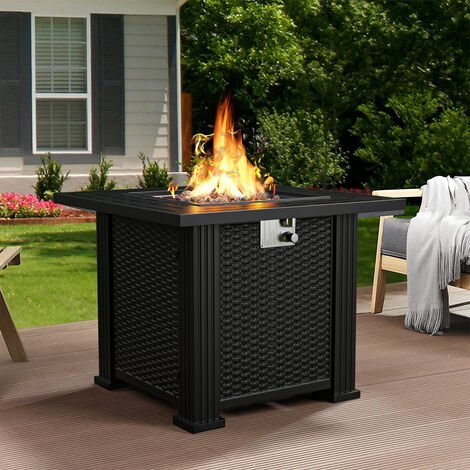 """main image of """"Patio Heater Firepit Outdoor Gas Fire Pit With Lava Rock & Cover"""""""