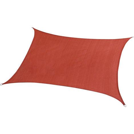Patio Parasol Toldo Toldo Top reemplazo Sun cubierta de la cortina impermeable UV Bloqueador Parasol de Vela, Rojo, 3x3m