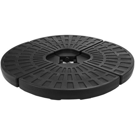 Patio Parasol Umbrella Base Stand Holder Sand Water Black