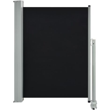 Patio Retractable Side Awning 100 x 300 cm Black