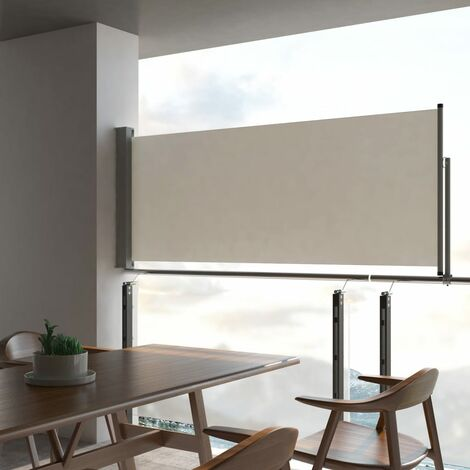 Patio Retractable Side Awning 100 x 300 cm Cream
