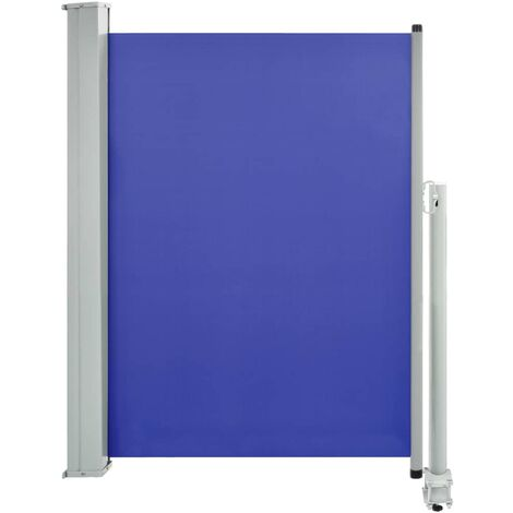 Patio Retractable Side Awning 100x300 cm Blue