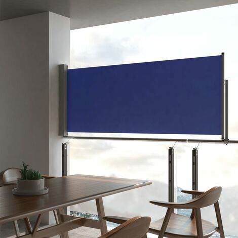 Patio Retractable Side Awning 100x300 cm Blue - Blue