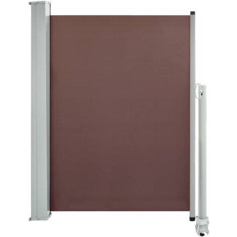 Patio Retractable Side Awning 100x300 cm Brown