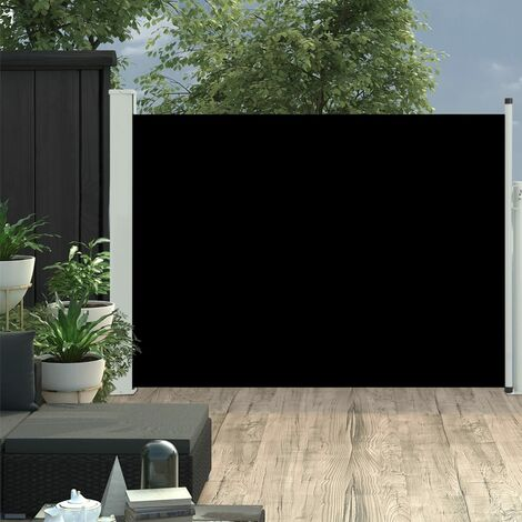 Patio Retractable Side Awning 100x500 cm Black