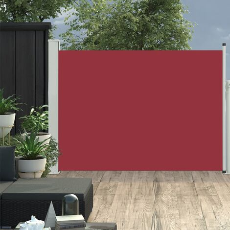 Patio Retractable Side Awning 100x500 cm Red