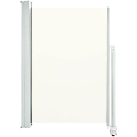 Patio Retractable Side Awning 120 x 300 cm Cream