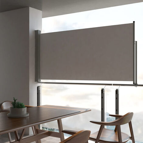 Patio Retractable Side Awning 120 x 300 cm Grey