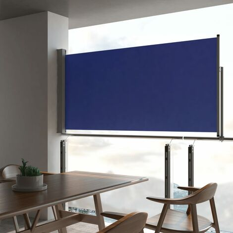 Patio Retractable Side Awning 120x300 cm Blue