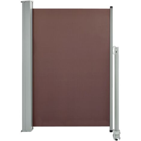 Patio Retractable Side Awning 120x300 cm Brown