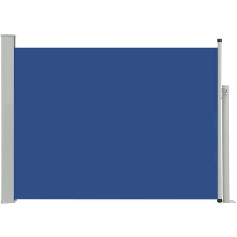 Patio Retractable Side Awning 120x500 cm Blue