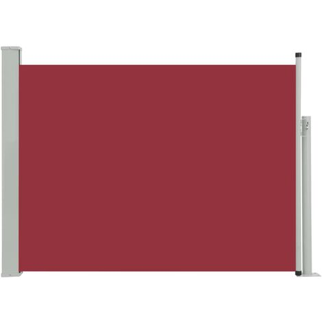 Patio Retractable Side Awning 120x500 cm Red