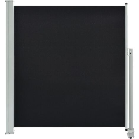 Patio Retractable Side Awning 140 x 300 cm Black