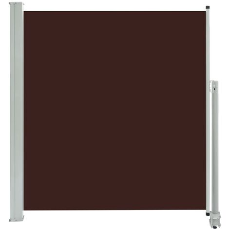 Patio Retractable Side Awning 140 x 300 cm Brown