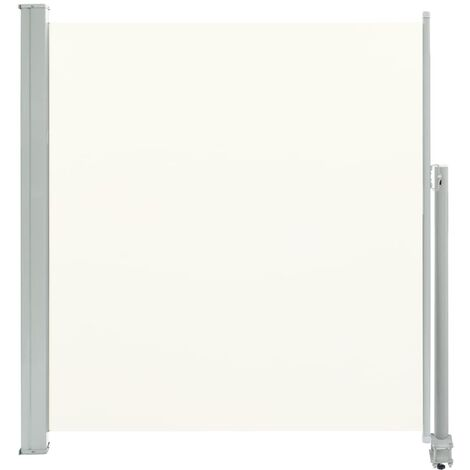 Patio Retractable Side Awning 140 x 300 cm Cream