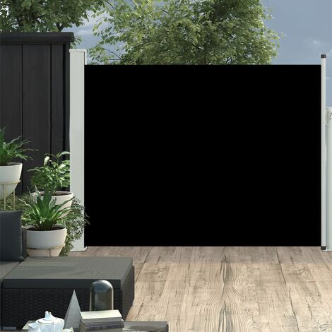 Patio Retractable Side Awning 140x500 cm Black