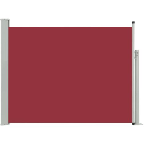 Patio Retractable Side Awning 140x500 cm Red