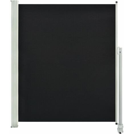 Patio Retractable Side Awning 160 x 300 cm Black