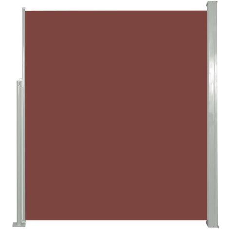 Patio Retractable Side Awning 160 x 300 cm Brown - Brown