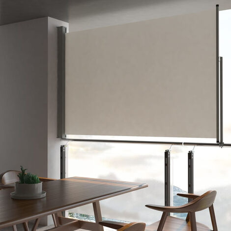 Patio Retractable Side Awning 160 x 300 cm Cream