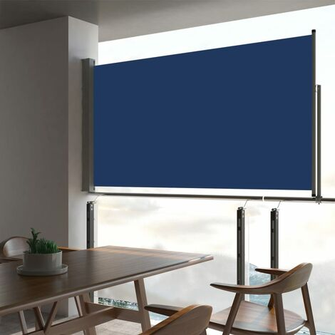 Patio Retractable Side Awning 160x300 cm Blue