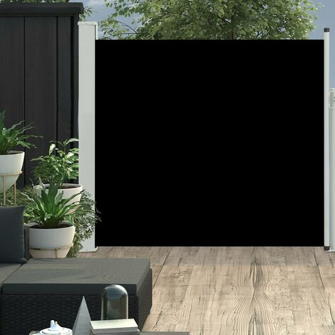 Patio Retractable Side Awning 170x300 cm Black
