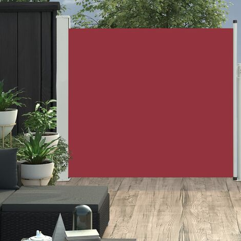 Patio Retractable Side Awning 170x300 cm Red