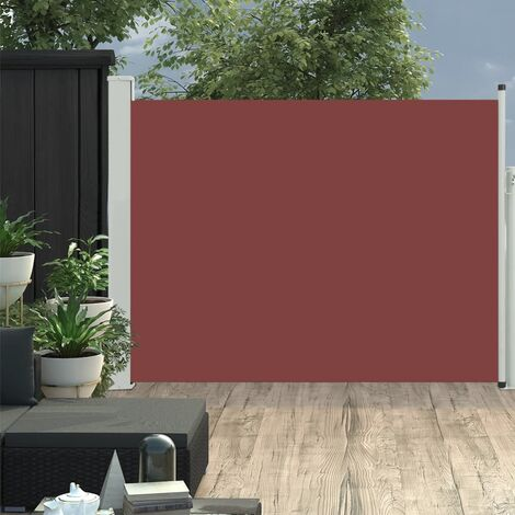 Patio Retractable Side Awning 170x500 cm Brown - Brown