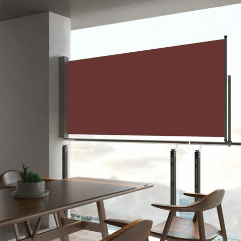 Patio Retractable Side Awning 60x300 cm Brown