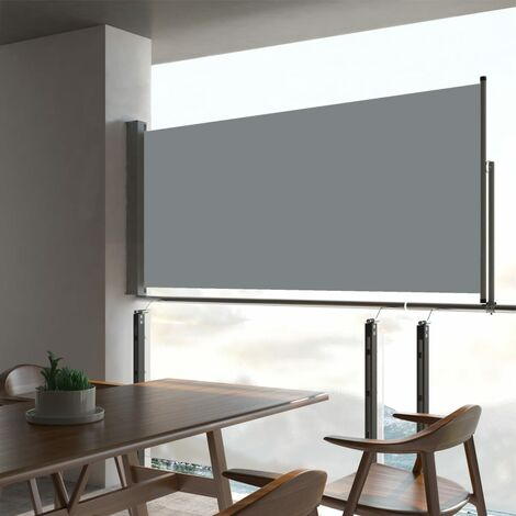 Patio Retractable Side Awning 60x300 cm Grey