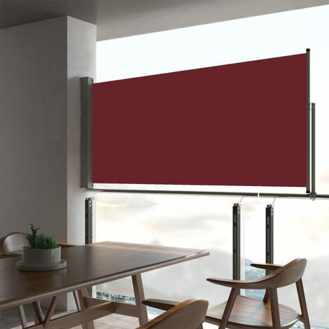 Patio Retractable Side Awning 60x300 cm Red