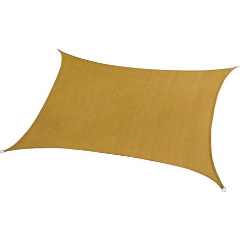 Patio Sun Shade Canopy Top Auvent De Rechange Sun Cover Shade Impermeable Uv Blocker Pare-Soleil Voile Pour Exterieur Jardin Patio Jardin Parc, Beige, 2X3M