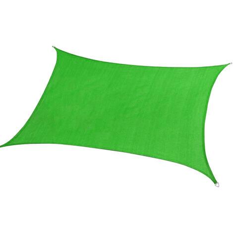 Patio Sun Shade Canopy Top Auvent De Rechange Sun Cover Shade Impermeable Uv Blocker Pare-Soleil Voile, Vert, 3X3M