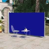 Patio Terrace Side Awning 160 x 300 cm Blue