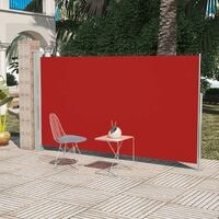 Patio Terrace Side Awning 180 x 300 cm Red