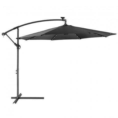 Patio Umbrella LED Hanging Umbrella Luxury Parasols Ø300cm Anthracite