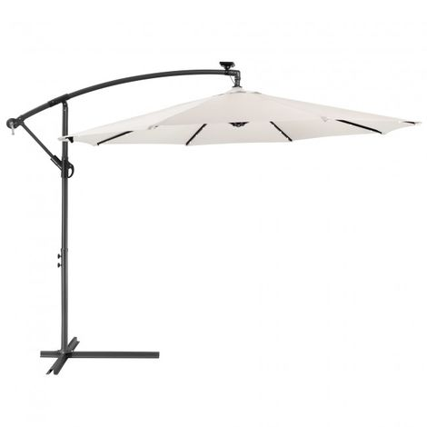 Patio Umbrella LED Hanging Umbrella Luxury Parasols Ø3m Cream