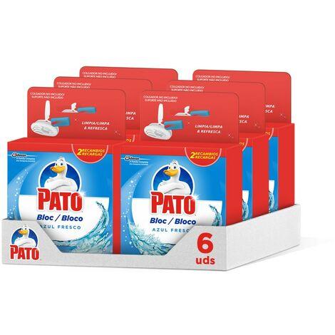 Pato - Bloc Azul Fresco recambio limpiador y ambientador para inodoro, 2 recambios (Pack de 6)