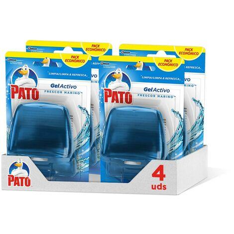 Pato - Gel Activo recambio colgador para inodoro Marine, limpia y perfuma, 2 recambios (Pack de 4)