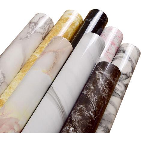 Patron de marmol de 10 metros resistente al agua a prueba de humedad del papel pintado desprendible auto-adhesivo de la cascara y del palillo de PVC de pared pegatinas, 10m, 4 Estilo