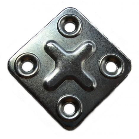 Patte carrée Strauss Vonderweidt - Longueur 37 mm - Largeur 37 mm - Vendu par 4