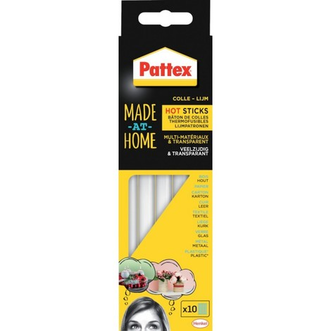 Pattex cartouche colle thermofusible HOT STICKS 6 x 200 g (Par 6)