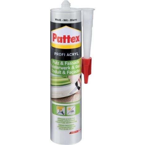 Pattex Colle Acrylique enduit et mur 300 ml, blanc (Par 12)